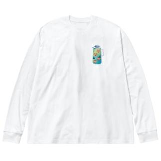 夢の給湯ポット 中国茶 Big silhouette long sleeve T-shirts