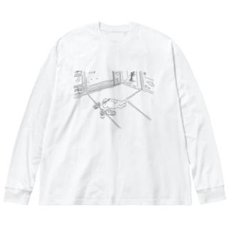 理想の生活 Big silhouette long sleeve T-shirts
