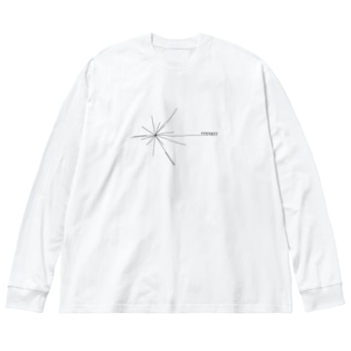 Voyager ロゴ(黒) Big silhouette long sleeve T-shirts