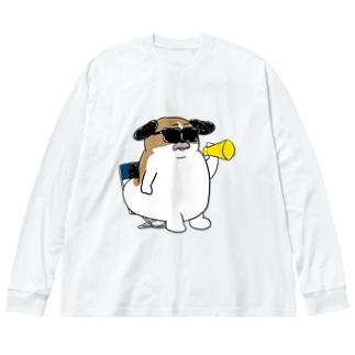 もじゃまる監督 Big silhouette long sleeve T-shirts