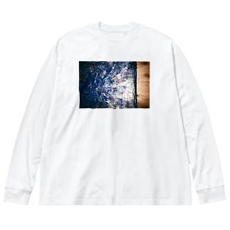 遺跡 Big silhouette long sleeve T-shirts