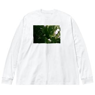 木漏日 Big silhouette long sleeve T-shirts