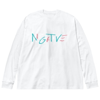 NGTV(デジタルリマスター版)濃色ボディ Big silhouette long sleeve T-shirts