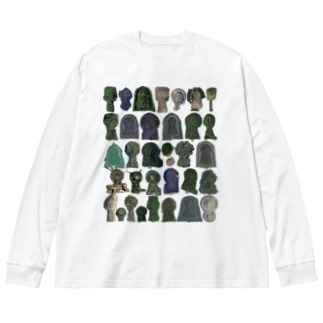 古墳まみれ Big silhouette long sleeve T-shirts