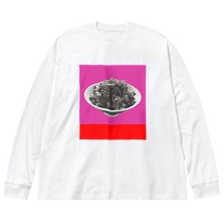 新宿黄金街海馬魯肉飯en Big silhouette long sleeve T-shirts