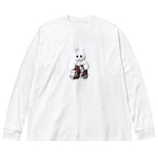 きんたろう Big silhouette long sleeve T-shirts