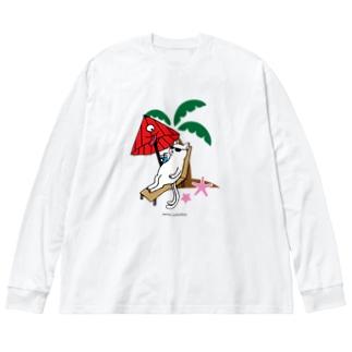 だんすだんすの化けーしょん Big silhouette long sleeve T-shirts
