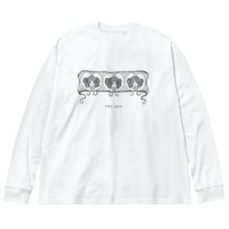夜露 Big silhouette long sleeve T-shirts