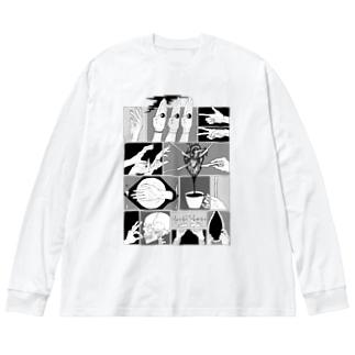 手 Big silhouette long sleeve T-shirts