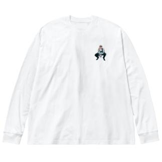 MONNIE THE SQUATTY Big silhouette long sleeve T-shirts