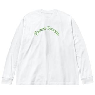 ペーパードライバー専用 Big silhouette long sleeve T-shirts