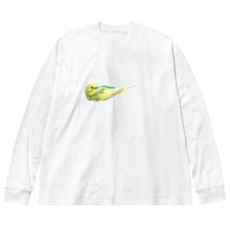 ぺたんこねんねおかゆ Big silhouette long sleeve T-shirts