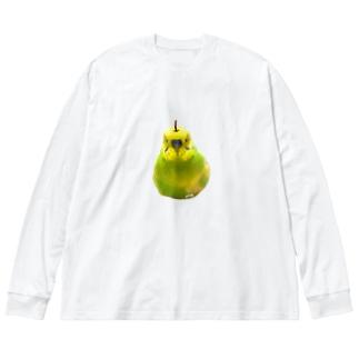 ラ・フランスおかゆ Big silhouette long sleeve T-shirts