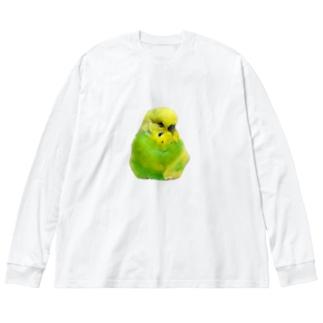 ぷんすかおかゆ Big silhouette long sleeve T-shirts