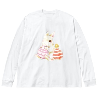 Easter Big silhouette long sleeve T-shirts