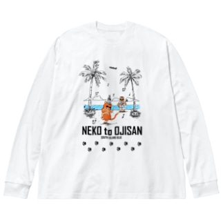 NEKO to OJISAN Big silhouette long sleeve T-shirts
