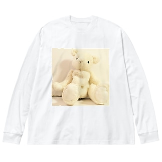 しろくまたんのポノ Big silhouette long sleeve T-shirts