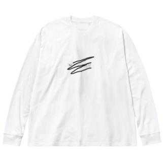 何故!!!! Big silhouette long sleeve T-shirts