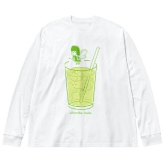 Absinthe Soda Big silhouette long sleeve T-shirts