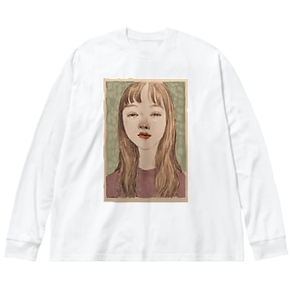 girl1 Big silhouette long sleeve T-shirts