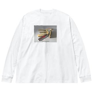 Sweet-Harp Big silhouette long sleeve T-shirts