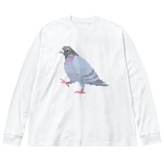 歩いてる鳩 Big Silhouette Long Sleeve T-Shirt