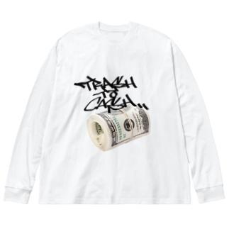 TRASH to CASH! Big silhouette long sleeve T-shirts