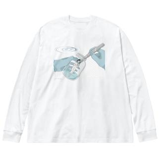 無菌培養 Big silhouette long sleeve T-shirts