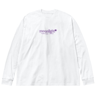 moonlight Big silhouette long sleeve T-shirts