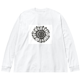Flower Big silhouette long sleeve T-shirts