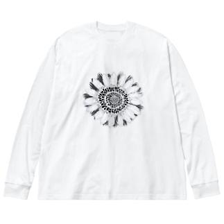 Flower 2 Big silhouette long sleeve T-shirts