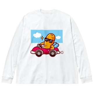 シュール・ザ・ニンジン/ドライブ Big silhouette long sleeve T-shirts