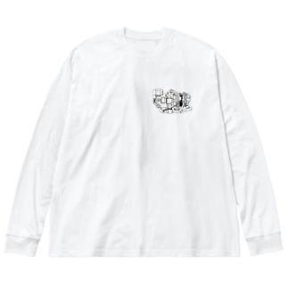 Cub Electronics (Mono) Big silhouette long sleeve T-shirts