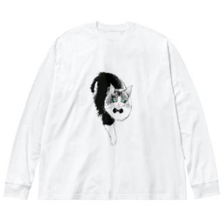Noaモデル Big silhouette long sleeve T-shirts