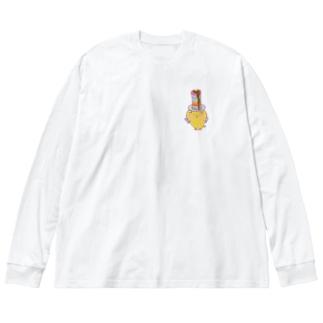 スコティッシュのフォーちゃん【パンケーキ】 Big silhouette long sleeve T-shirts