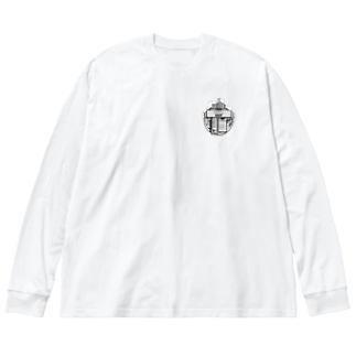 Nurando cigarette Logo / back Big silhouette long sleeve T-shirts
