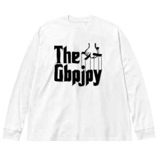 FX GBPJPY ポンド円 ポン円 FX トレーダー  ゴッドファーザー風 為替 両替 黒字黒フォント Big silhouette long sleeve T-shirts