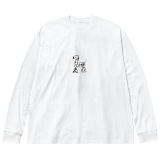 しょうこちゃんの本気/シマウマ Big silhouette long sleeve T-shirts