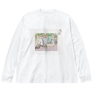 コペンハーゲンの小径  Big silhouette long sleeve T-shirts