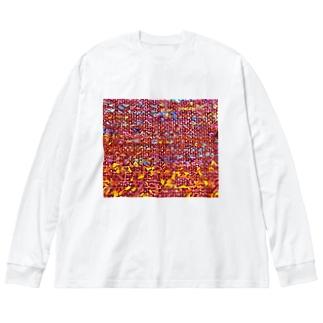 夕焼け/カヨサトーTX Big silhouette long sleeve T-shirts