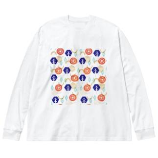 花とか木とか結晶とか幾何学とか Big silhouette long sleeve T-shirts