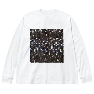 雪と蒼/カヨサトーTX Big silhouette long sleeve T-shirts