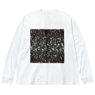 雪と翠/カヨサトーTX Big silhouette long sleeve T-shirts