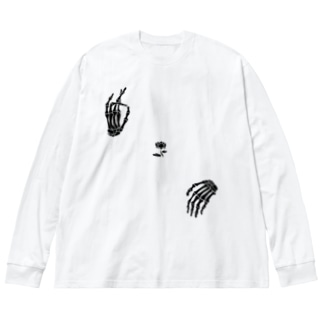 弥勒 Big silhouette long sleeve T-shirts
