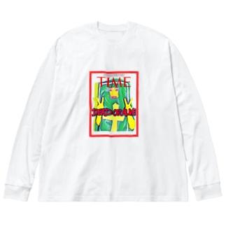遺影みぃVol.2 Big silhouette long sleeve T-shirts