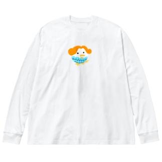 アマビナちゃん 枠なしカラー Big silhouette long sleeve T-shirts
