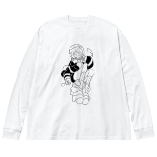 スイキンチカモク Big silhouette long sleeve T-shirts