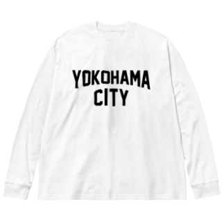 横浜 横浜市 YOKOHAMA CITY  Big silhouette long sleeve T-shirts