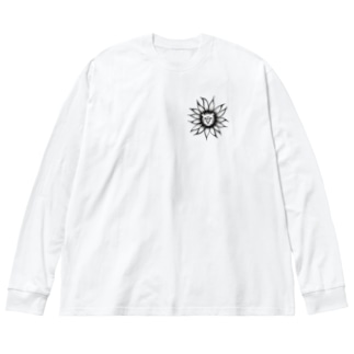ライオン Big silhouette long sleeve T-shirts