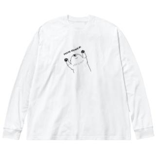 あの犬/幸せを呼ぶもの Big silhouette long sleeve T-shirts